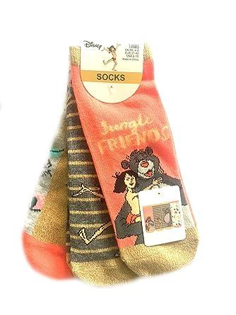 Primark Paquete de 3 pares de calcetines para mujer, de Jungle Book, talla única: Amazon.es: Ropa y accesorios