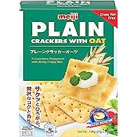 Meiji Plain Crackers with Oats, 104 g