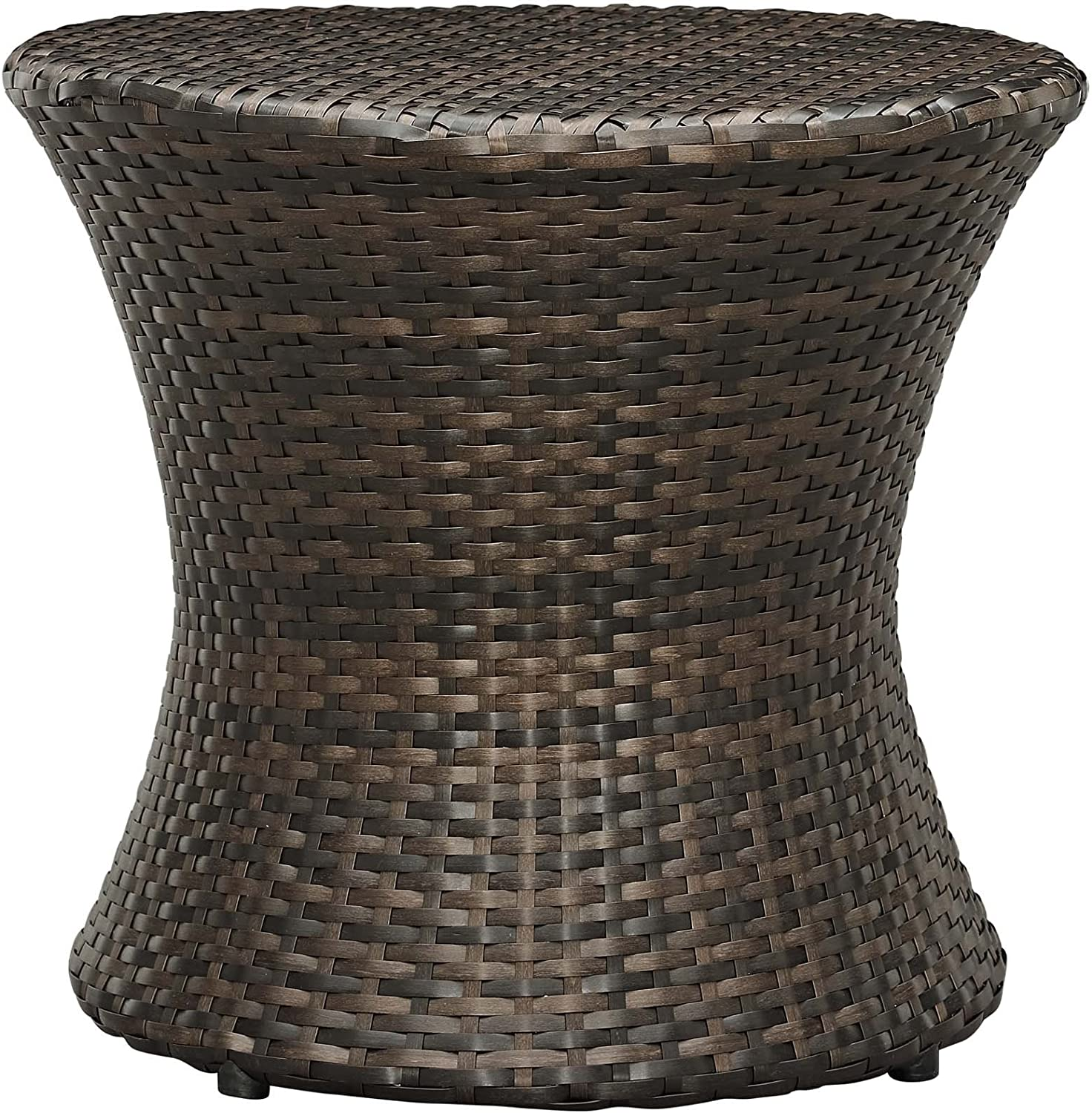 Modway EEI-2546-BRN Stage Wicker Rattan Outdoor Patio Side Table, Brown