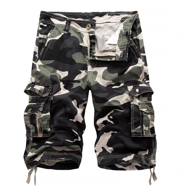 MEI&S Männer Camouflage Arbeit tragen Beach Shorts