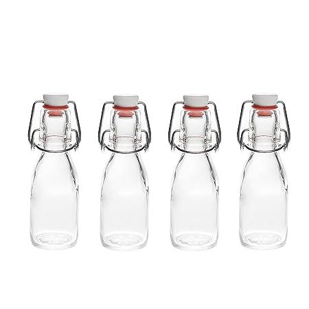 12 botellas de vidrio con una tapa ml 100 de la fábrica SLK: Amazon.es: Hogar