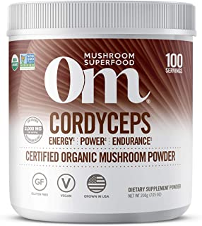 product image for Om Organic Mushroom Superfood Powder, Cordyceps, 100 Servings, Energy and Endurance Support Supplement, 7.05 Ounce (Pack of 1)