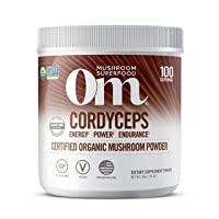 Om Organic Mushroom Superfood Powder, Cordyceps, 100 Servings, Energy and Endurance Support Supplement, 7.05 Ounce (Pack of 1)