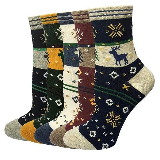 23b021a0f0827 LOTUYACY Womens Girls Cute Animal Casual Socks Comfort Funny Cotton Crew  Socks 4 Or 5 Pack