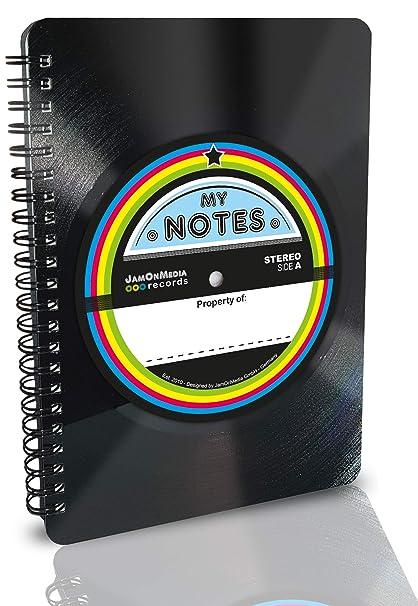Cuaderno de tocadiscos de vinilo de verdadero Vintage - upcycling ...