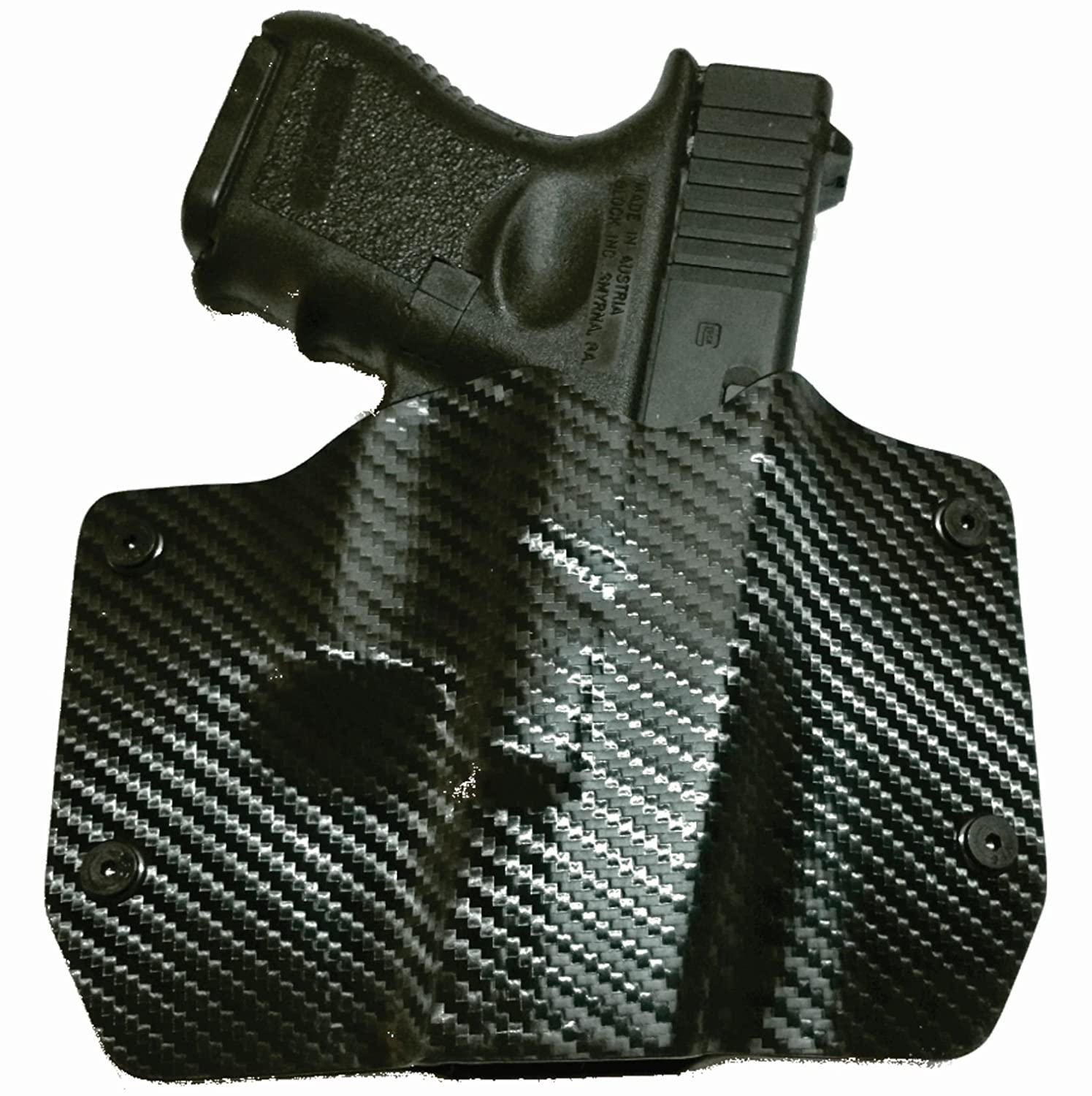Black Carbon Fiber Kydex OWB holsters for more than 135 different handguns