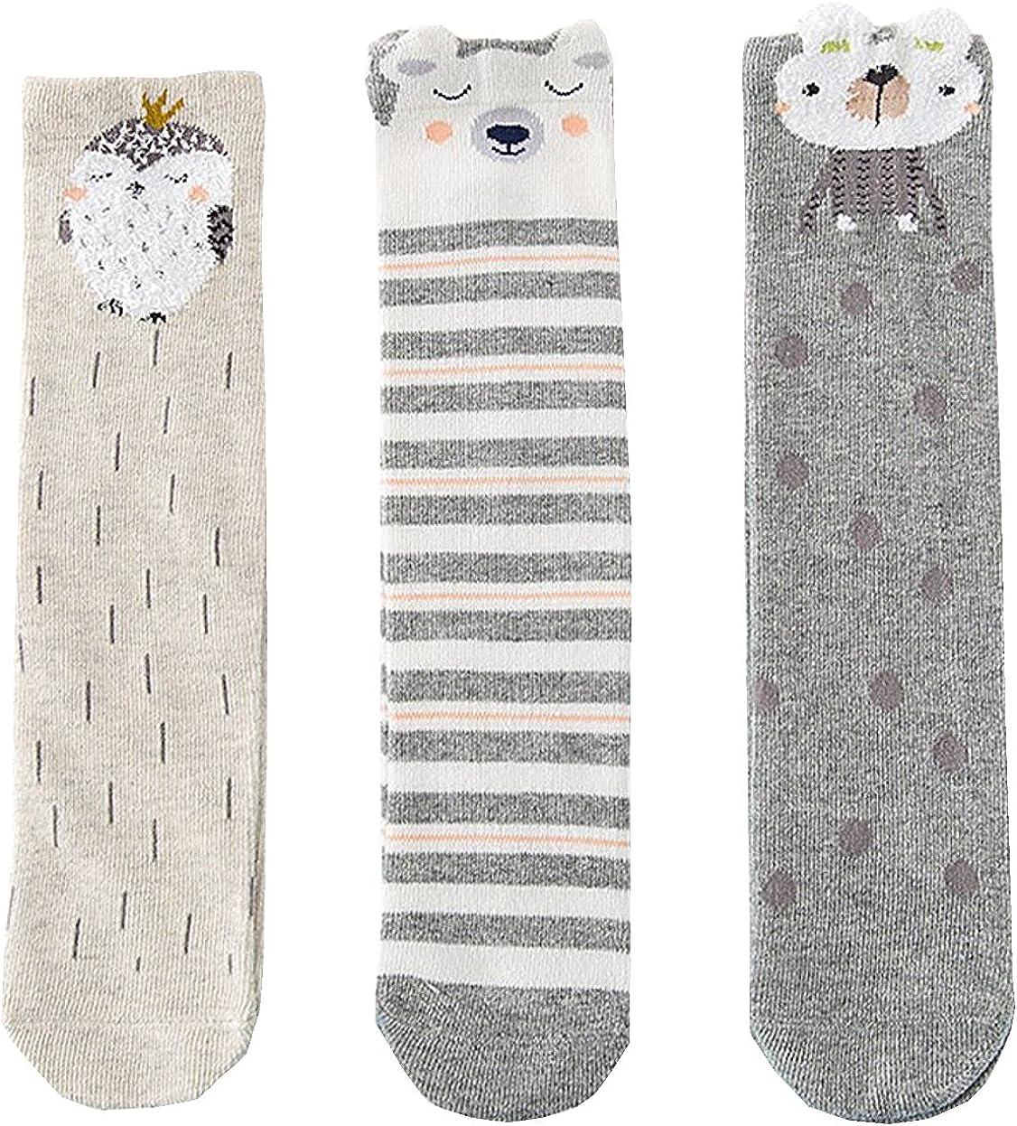 Unisex Baby Socks Toddler Girl Knee High Socks Leg Warmers Animal Cotton Socks 1-7 Yrs