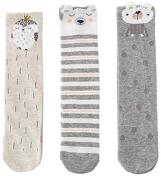 72ef96613 Girls Socks Baby Toddler Knee High Socks Leg Warmer Animal Cotton Socks  1-10 Yrs
