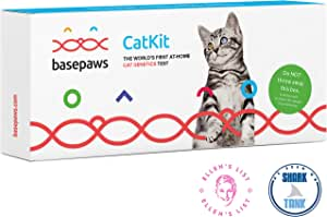 Basepaws Cat DNA Test Kit   Breed and Genetic Traits Discovery   39 Health Markers   Wildcat Index   As Seen On Shark Tank 1 Pack Basic