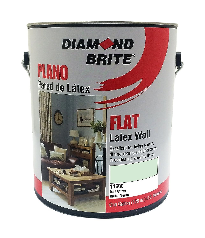 Diamond Brite Paint 11600 1-Gallon Flat Latex Paint Mist Green by Diamond Brite Paint  Mist Green 1 Gallon B00AENGYMG