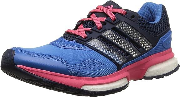adidas Response Boost 2 Techfit, Zapatillas de Running para Mujer, Azul/Azul Marino/Rosa, 36 EU: Amazon.es: Zapatos y complementos