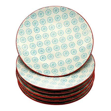 Nicola Spring Patterned Side / Dessert Plates - 180mm (7 Inches) - Turquoise /  sc 1 st  Amazon UK & Nicola Spring Patterned Side / Dessert Plates - 180mm (7 Inches ...