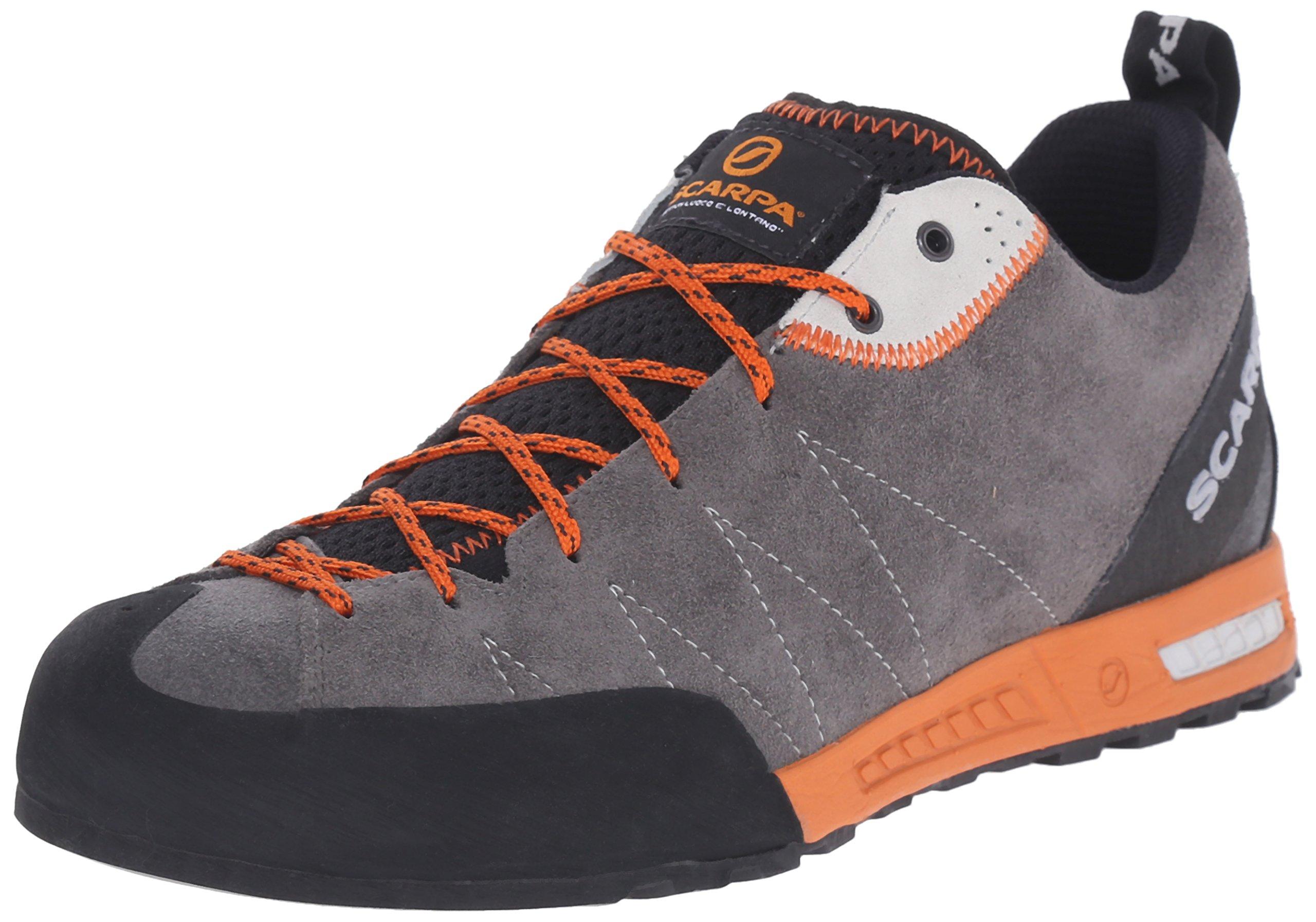 Scarpa Men's Gecko Approach Shoe, Shark/Tonic, 45 EU/11.5 M US
