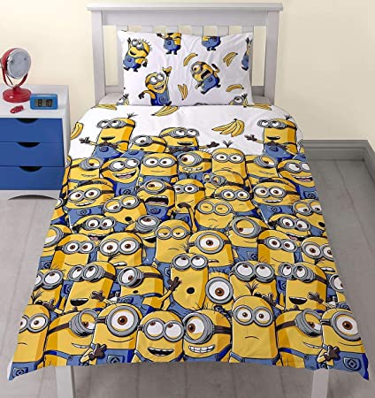 8983bc3568 Despicable Me Minions Banana Single Panel Duvet Quilt Cover Bedding Set:  Amazon.co.uk: Kitchen & Home