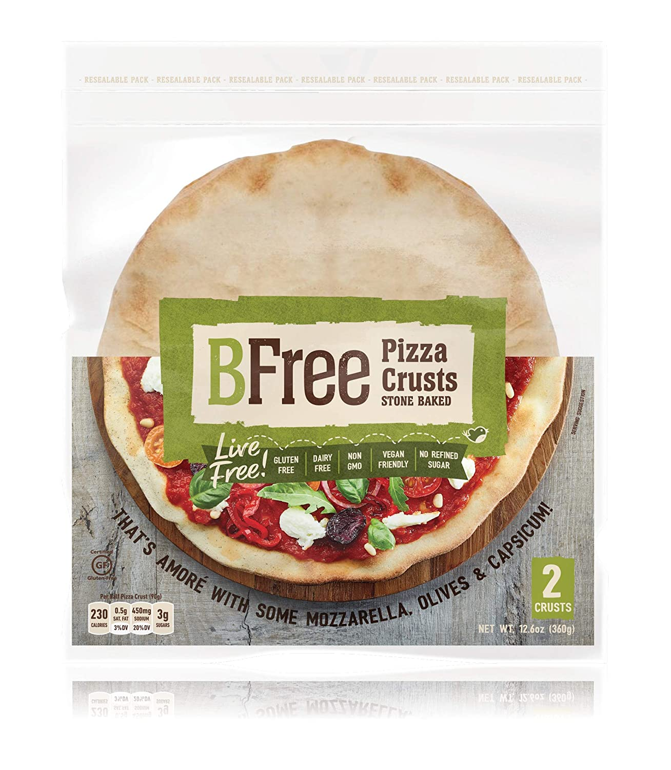 BFree Foods Stone Baked Pizza Crust