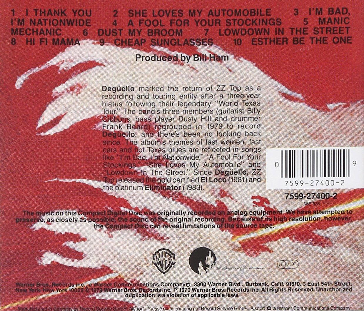 9c0b709f0a Zz Top - Deguello - Amazon.com Music