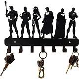 HeavenlyKraft Justice League Super Heros Wall Mounted Metal Key Holder Size 27 X 17 X 2CM