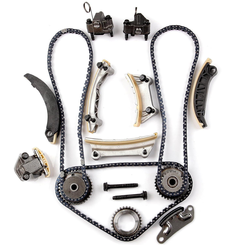 eccpp tk10436l para 07 - 13 Buick Pontiac Cadillac SRX STS Saab Suzuki 2.8 3.0 3.2 3.6 DOHC maletín con juego de cadena (2nd diseño): Amazon.es: Coche y ...