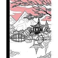 Kanji Practice Notebook: Traditional Pink and White Japan Kanji Writing Practice Book for Writing Kanji and Kana…