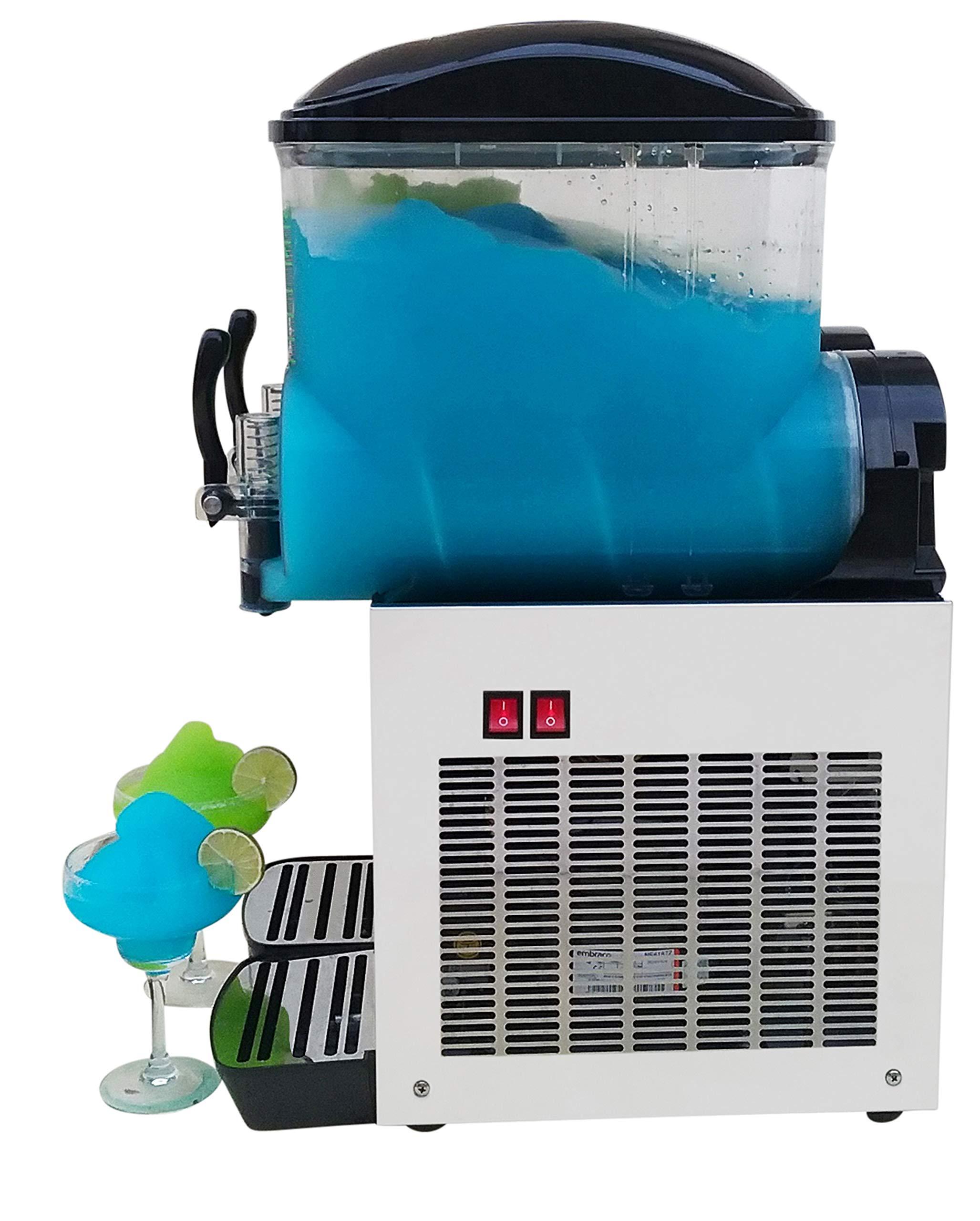 Brand : BRAVO ITALIA 2 bowls slushie machine 3.2 gallons each bowl , 100 CUPS ,COMMERCIAL GRADE MACHINE ,Margarita Machine , Slushie Maker , Margarita Maker , Slushy Machine by BRAVO ITALIA (Image #2)