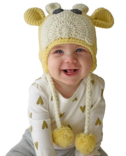 46e7cc55938 Amazon.com  Huggalugs Baby and Toddler Giraffe Beanie Hat  Clothing