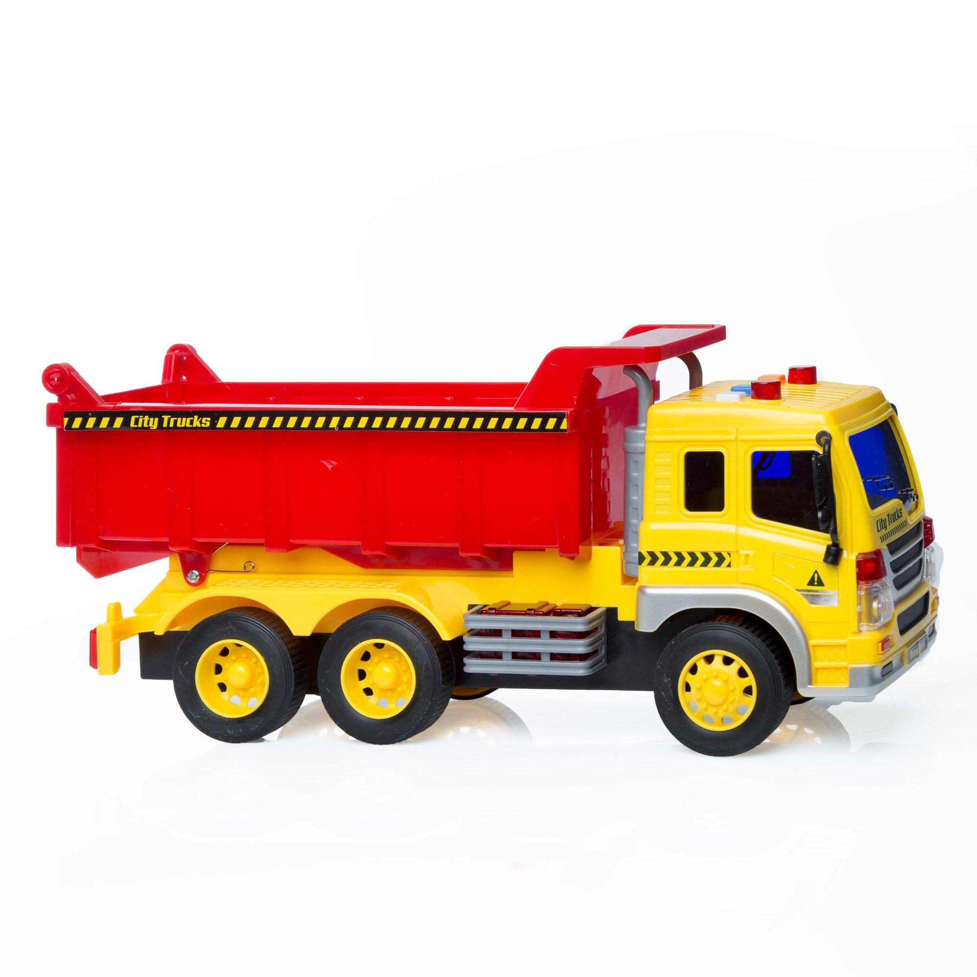 dump truck toys for toddler kids 2 3 4 year old boy car truck toy lights sound 688941046129 ebay. Black Bedroom Furniture Sets. Home Design Ideas