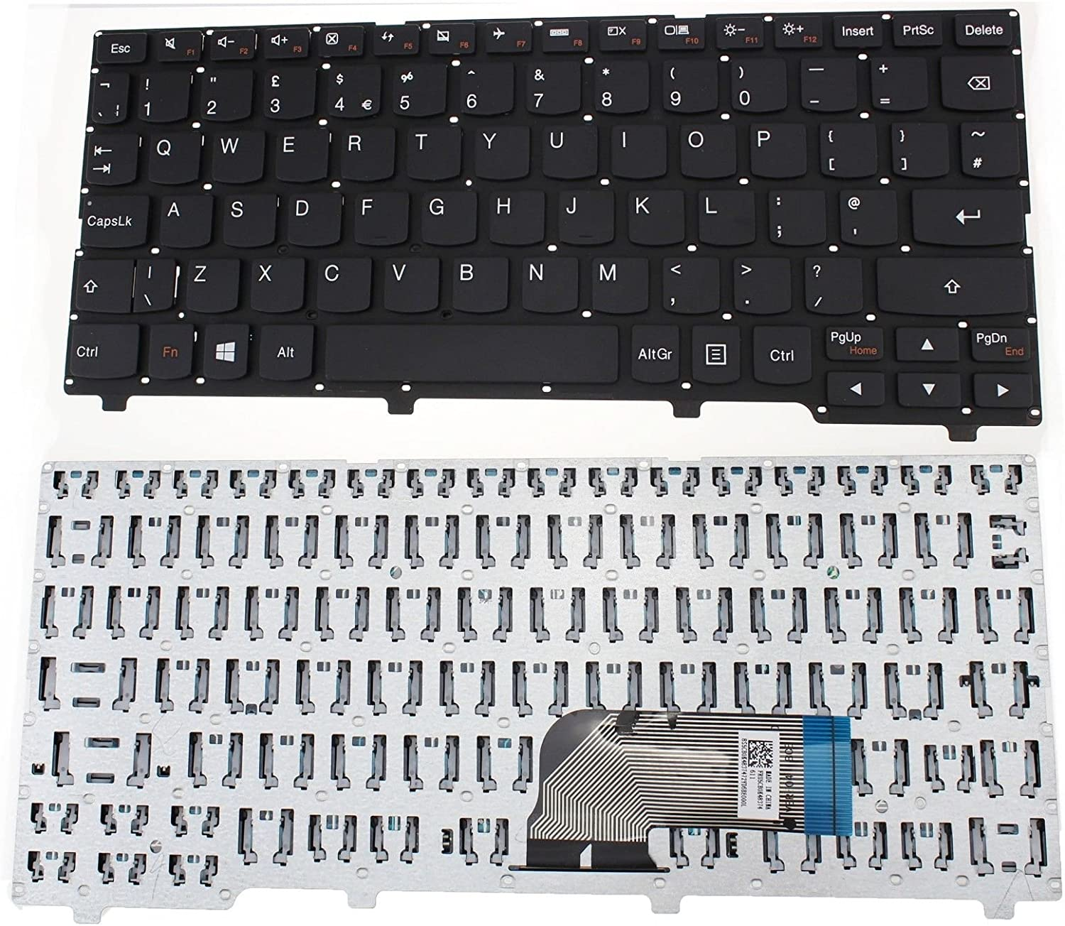 LENOVO IDEAPAD 100S-11IBY LAPTOP KEYBOARD UK LAYOUT WHITE F312