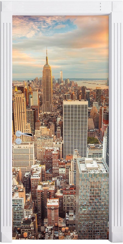 New York City come Murale, Formato: 200x90cm, telaio della porta, adesivi porta, porta decorazione, autoadesivi del portello Stil.Zeit Möbel