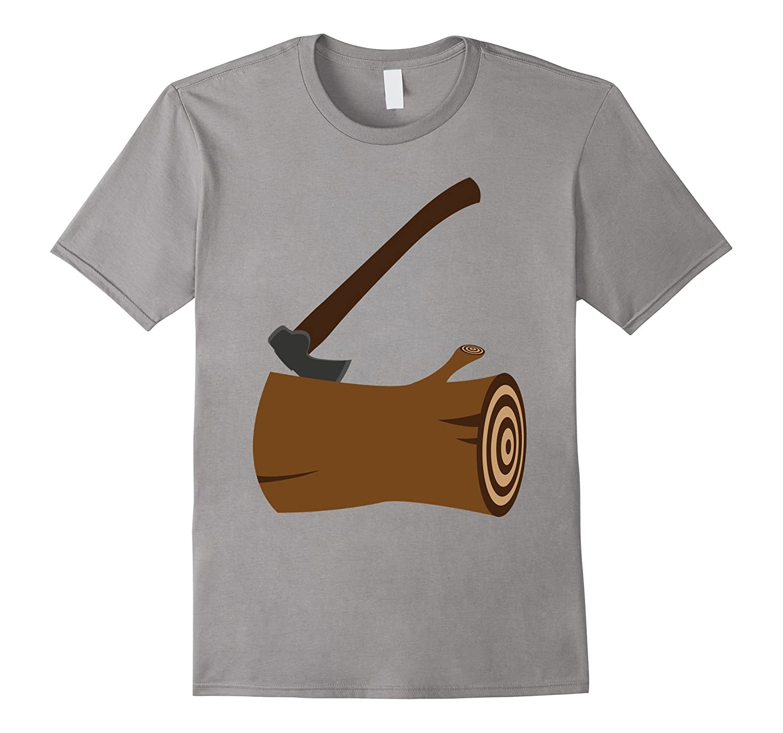 Lumberjack T-Shirt Hipster Mountain Man Axe Tee-FL