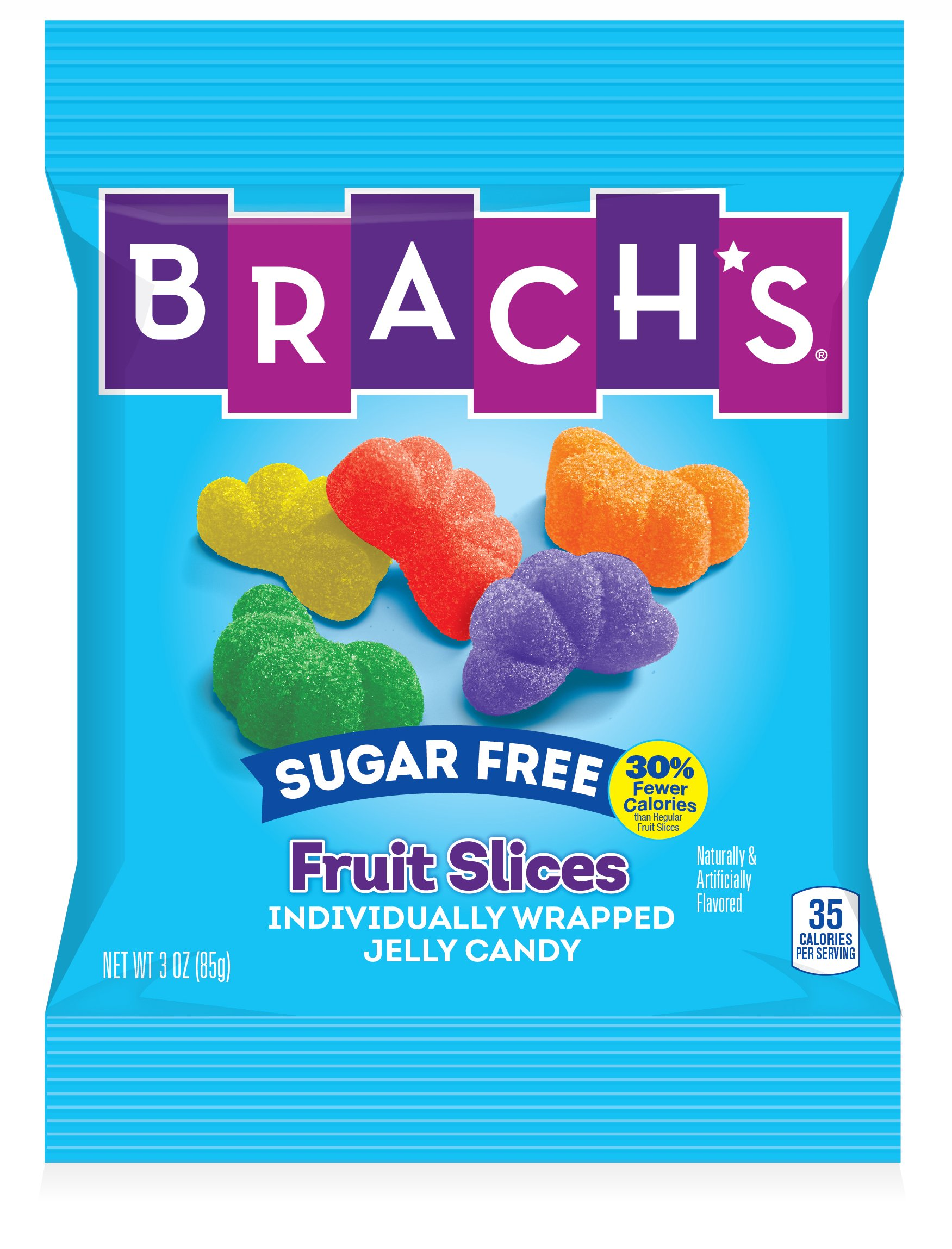 Brach's Sugar Free Fruit Slices Gummy Candy, 3 Ounce Bag, Pack of 12 by Brach's (Image #3)