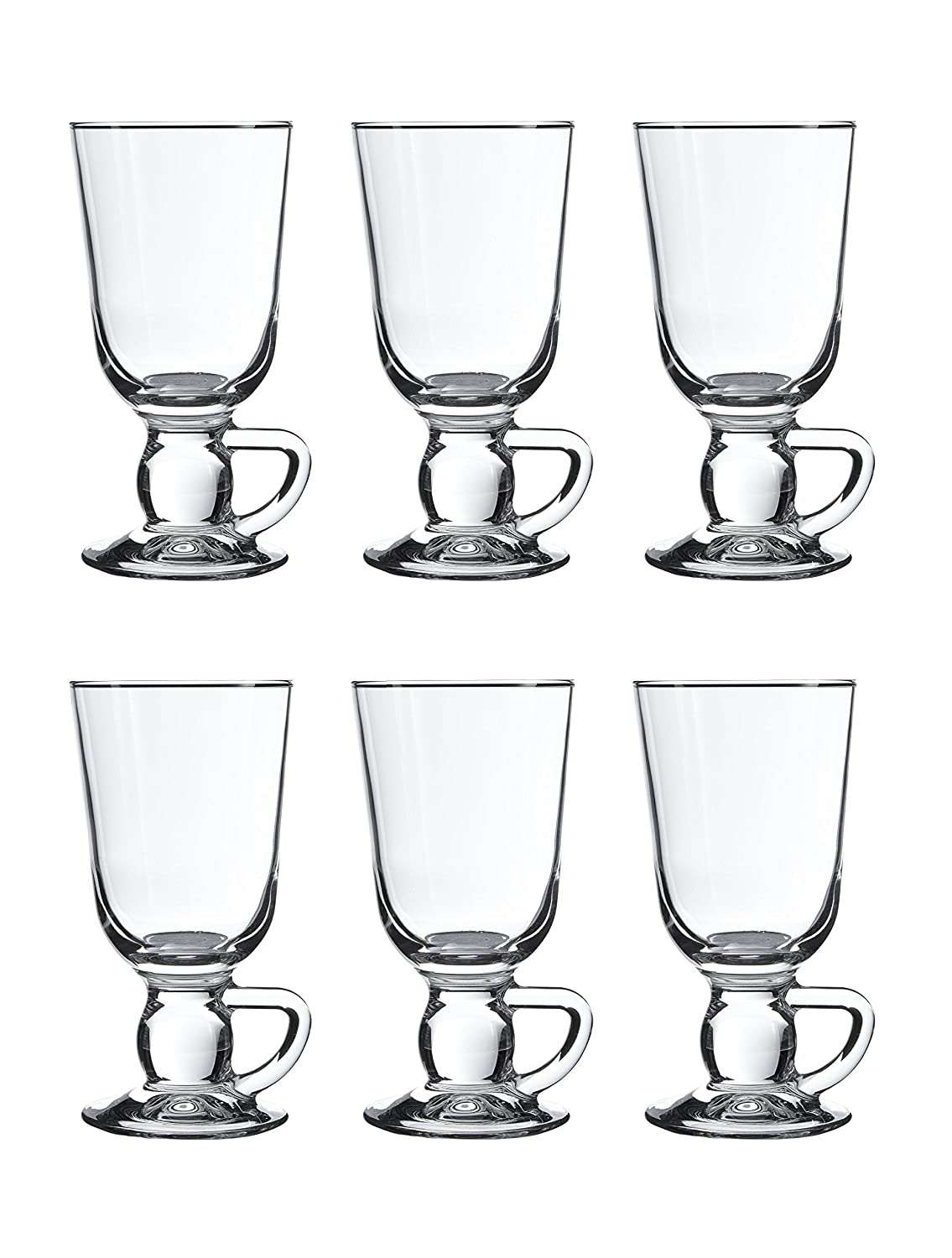 Pasabahce 44109 Irish Coffee / Punch / Mulled Wine / Hot Chocolate Glasses, 280 ml, Set of 6