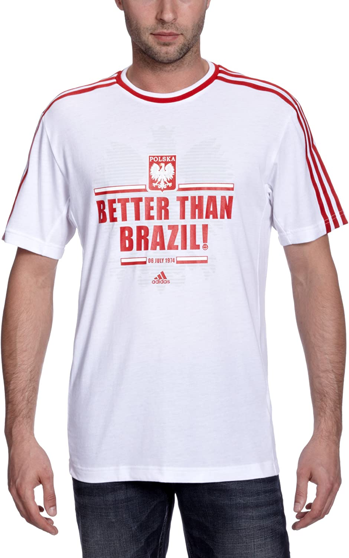 tshirt adidas homme blanc et rouge amazon