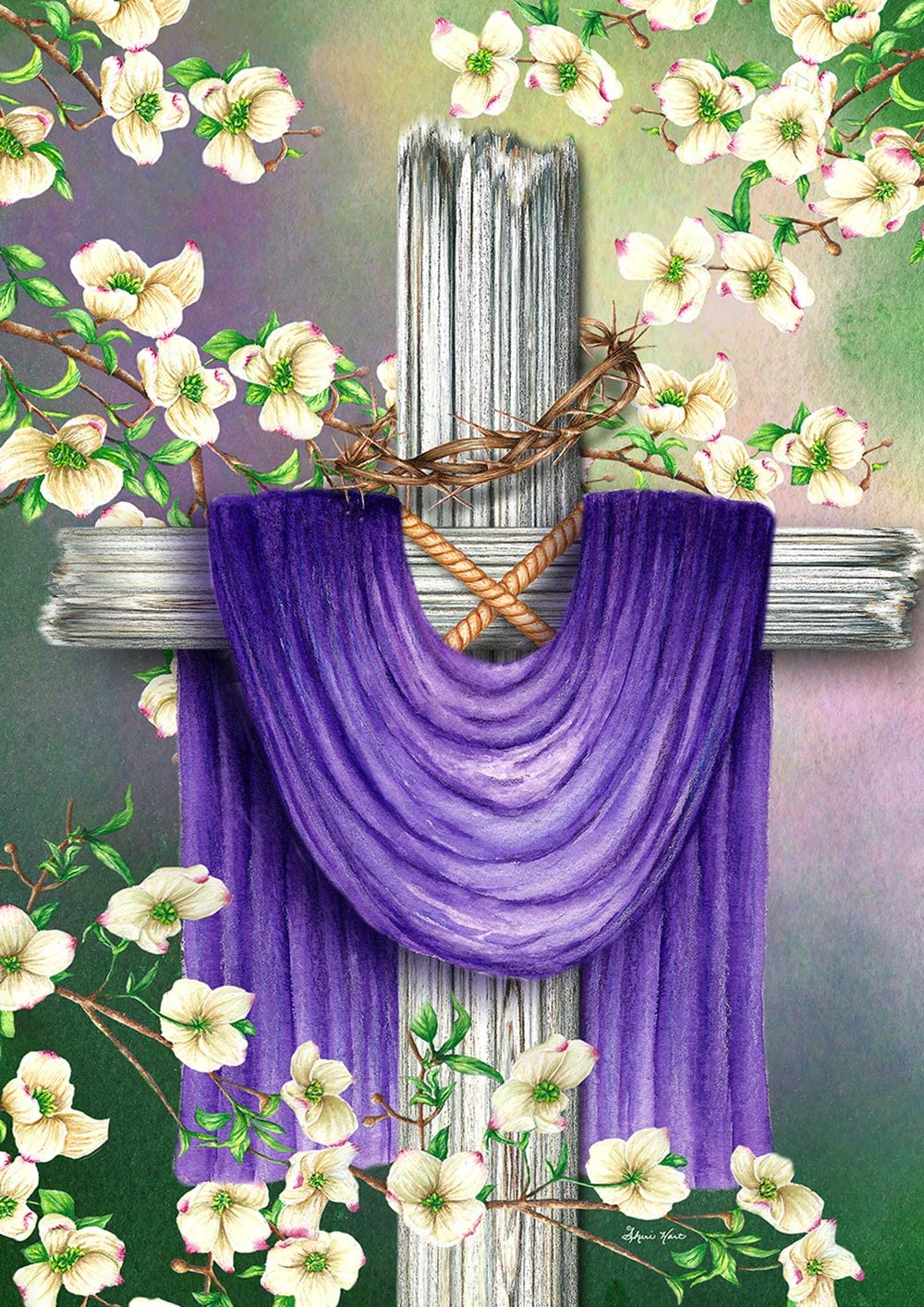 Toland Home Garden 1012324 Easter Cross 28 x 40 Inch Decorative, House Flag