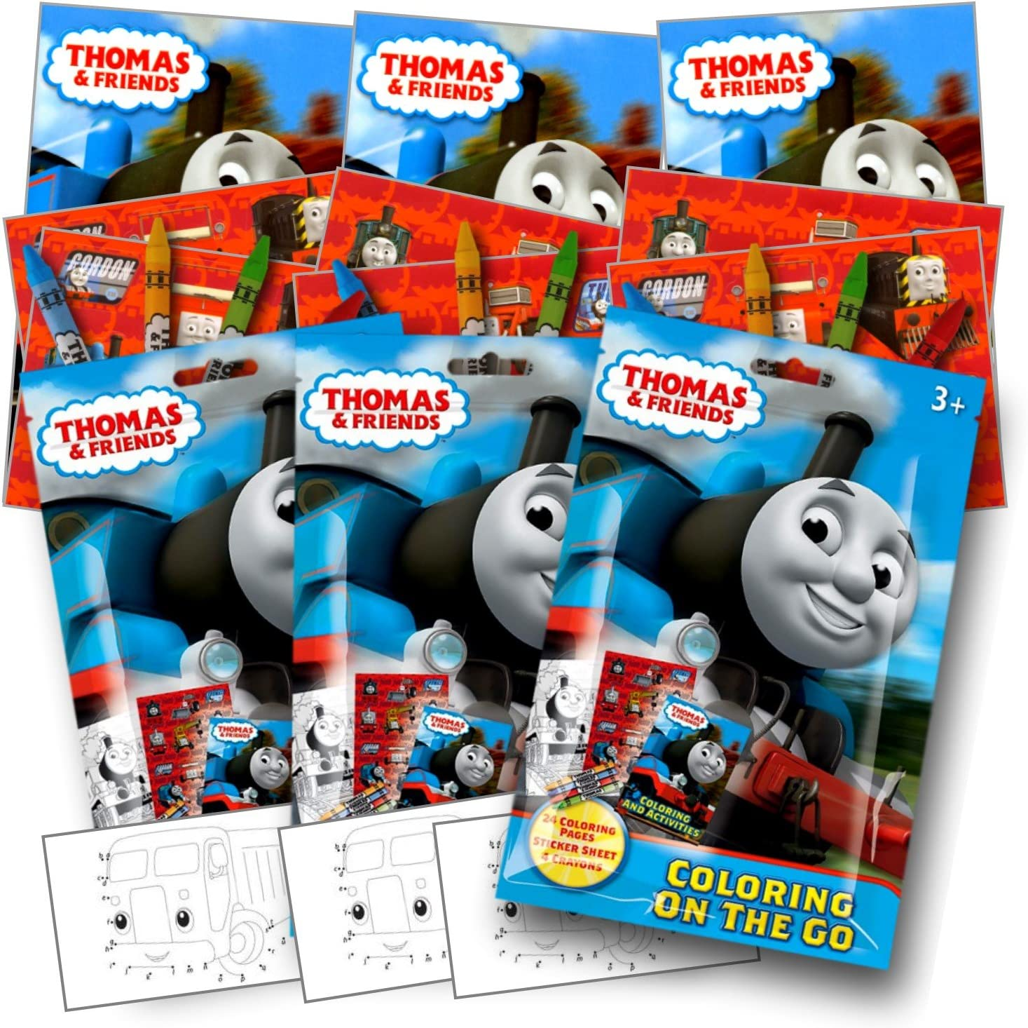 Amazon.com: Thomas The Train Coloring Pack Party Favors With