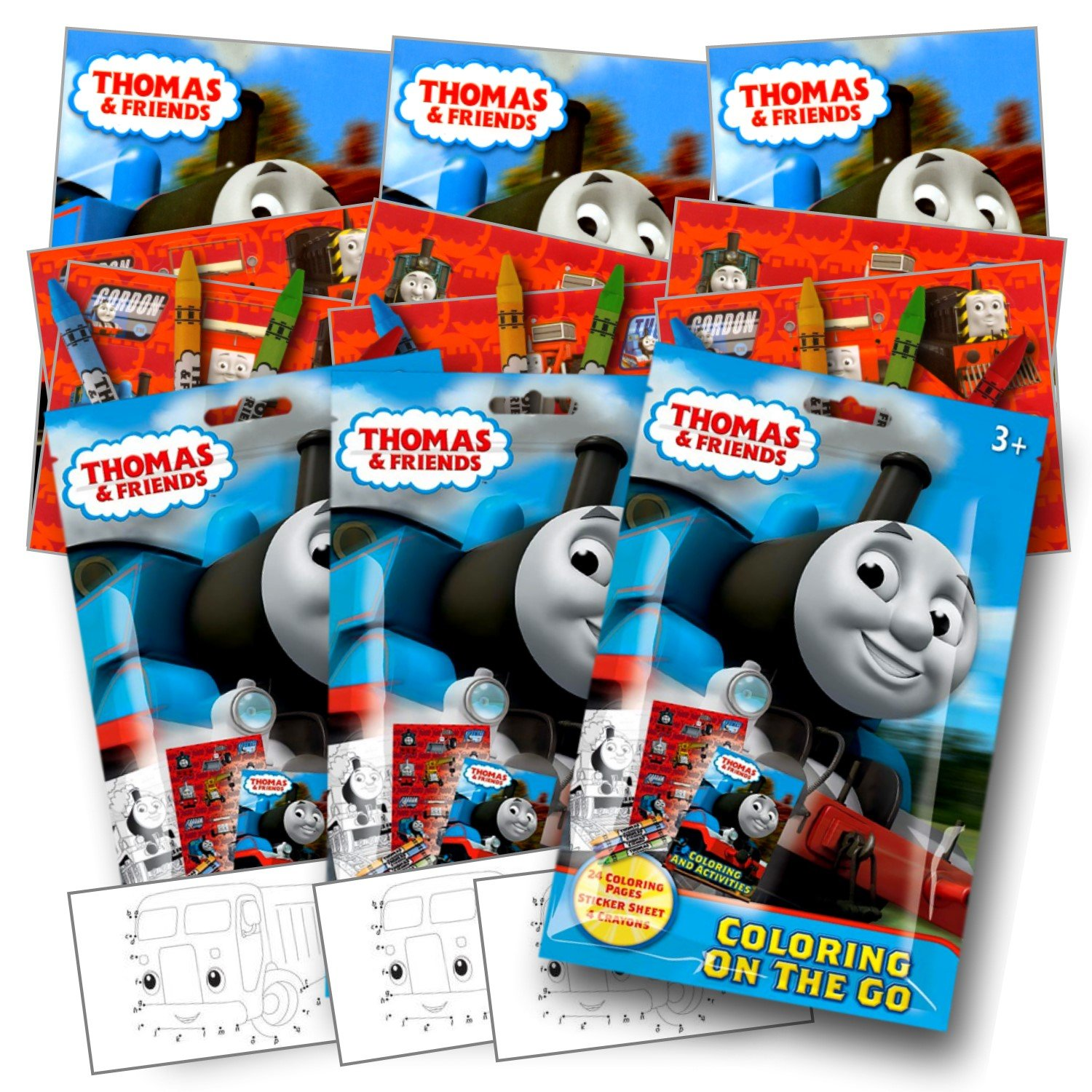 Amazon.com: Thomas The Train Coloring Pack Party Favors with ...