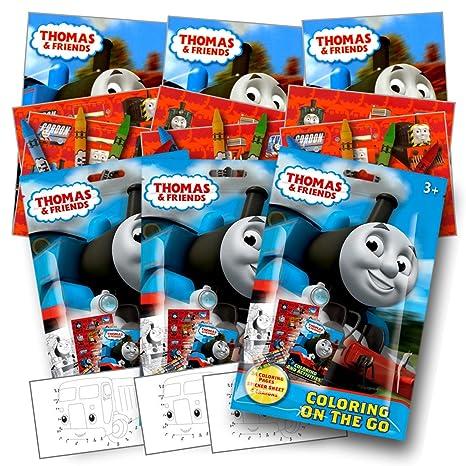 Thomas El Tren Para Colorear Pack Party Favors Con Pegatinas