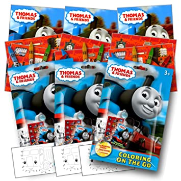 Amazon.com: Thomas el Tren Para Colorear Pack Party Favors ...