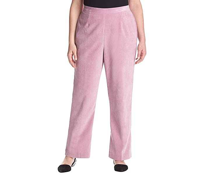 b181cab6 Alfred Dunner Plus Size Stretch Corduroy Pants (Rose, 20 Medium) at ...