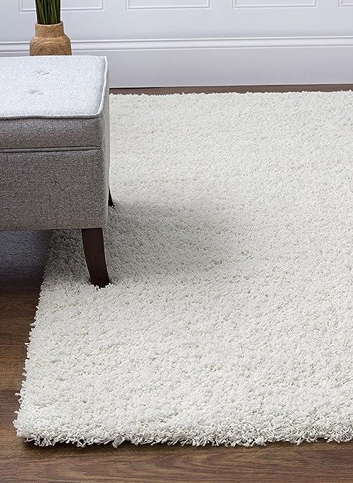 white shag rug. Super Area Rugs Ivory White Shag Rug, 2-Feet By 3-Feet, Rug S