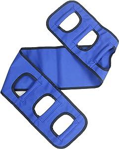 "Obbomed MB-2920 Patient Lift Transfer Sling Gait Belt with Handle, Medical Nursing Safety Assist Device for Moving Seniors, Turner Elderly Disabled, bariatric Handicap, Blue, Size : 46.5"" x 7.1"""