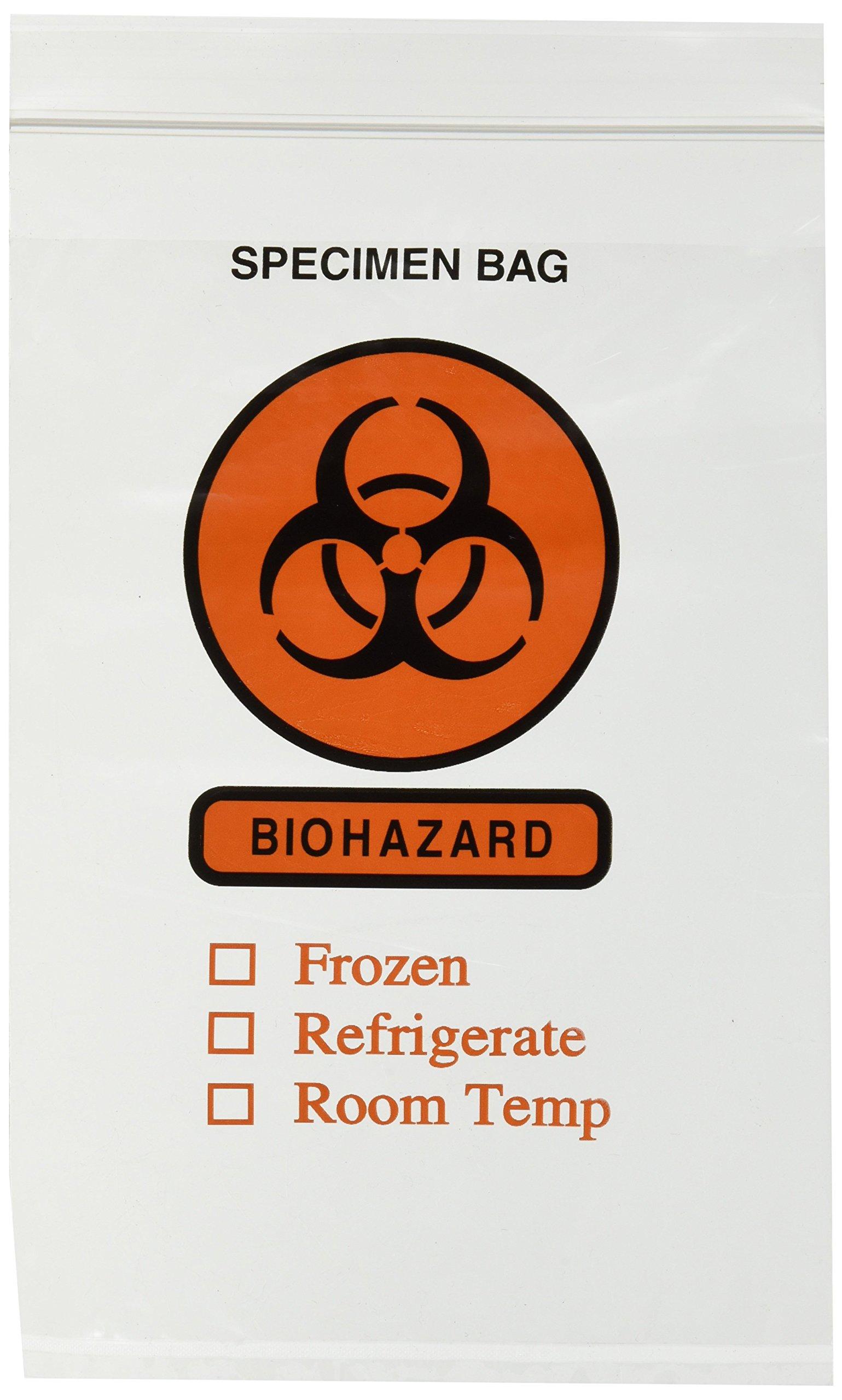 Biohazard Specimen Bags 6'' X 9'' - 100 Count Case
