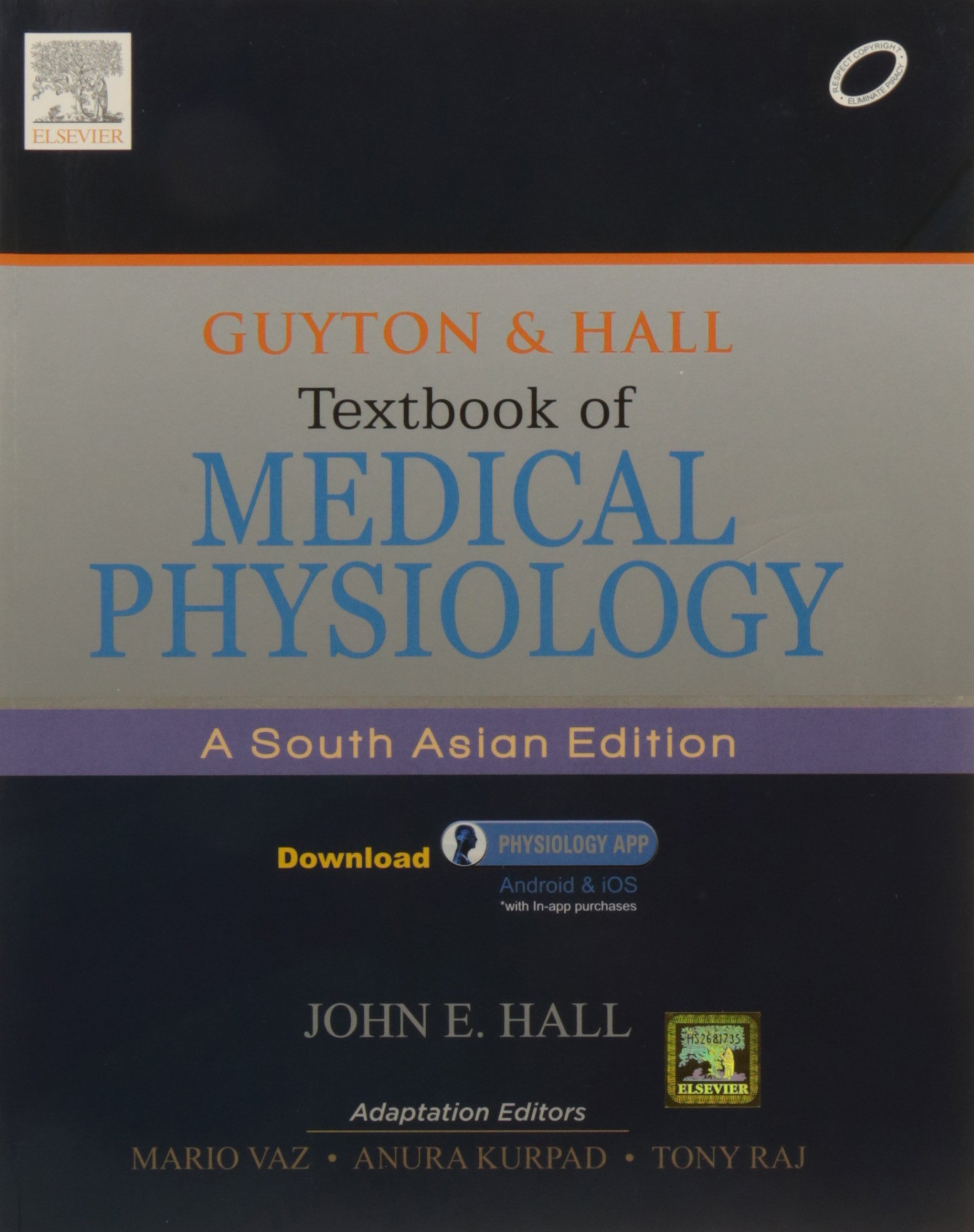 guyton hall textbook of medical physiology a south asian edition