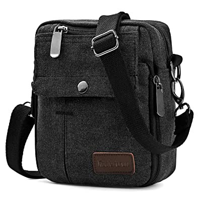 c41a077a5a Koolertron Fashion Unisex Men s Women s Retro Lightweight Small Canvas  Cross Body Everyday Satchel Bag Messenger Bag