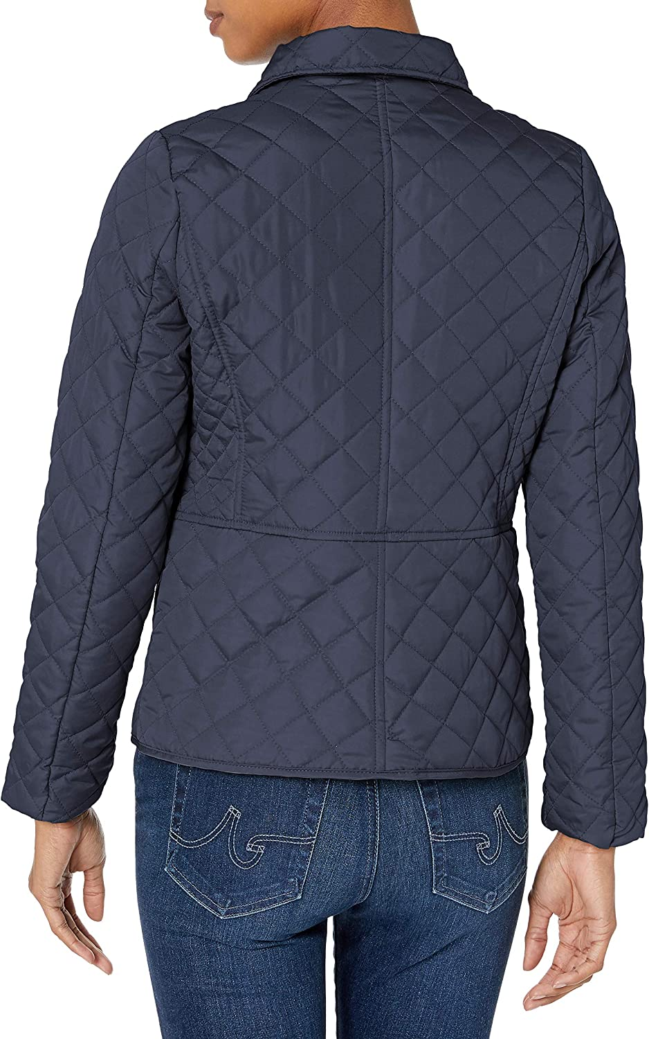 Navy Large Pink Platinum Womens Diamond Quilted Everyday Jacket