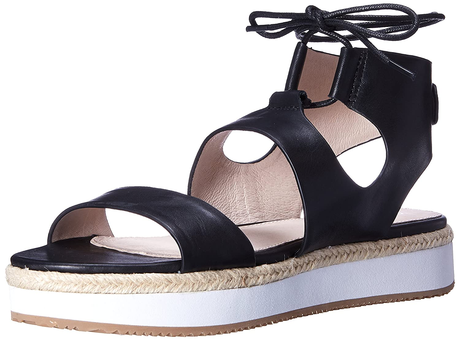 Shellys London Women's Hanley Platform Sandal B01CG209G4 39 EU/8.5 M US|Black