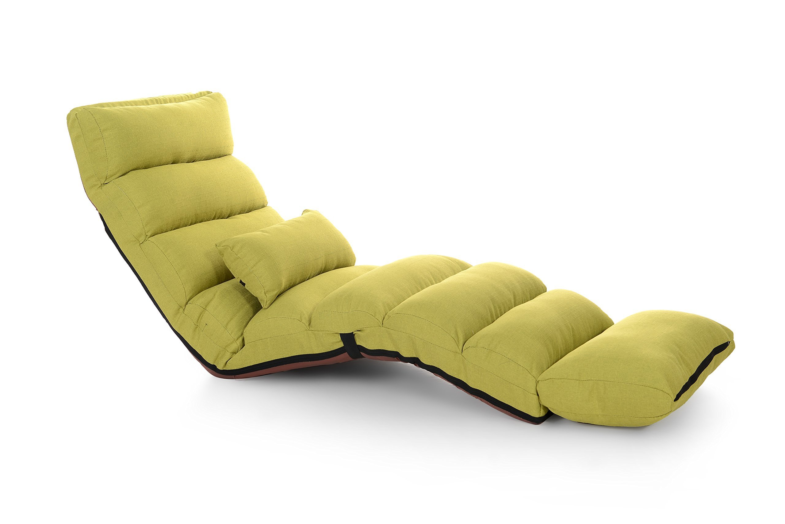 e-joy Relaxing Sofa Bean Bag Folding Sofa Chair, Futon Chair and Lounge, Fruit Green