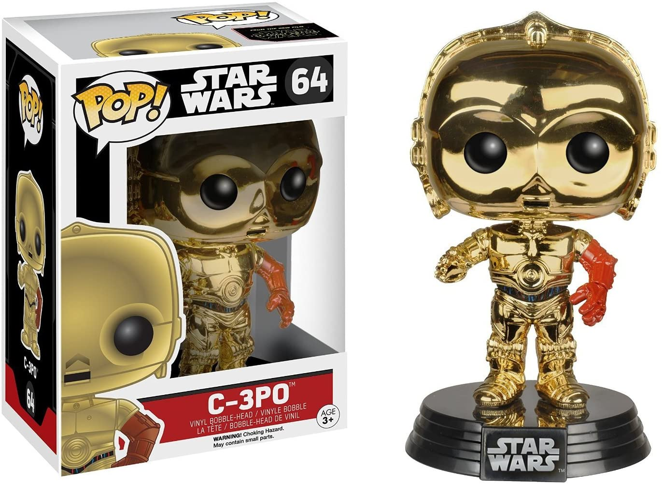 Funko Star Wars Episode 7 The Force Awakens C-3PO Pop Vinyl Chrome Exclusive