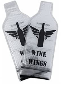 2 Pack Wine Wings Reusable Bottle Protector Sleeve Travel Bag Luggage Leak Safe