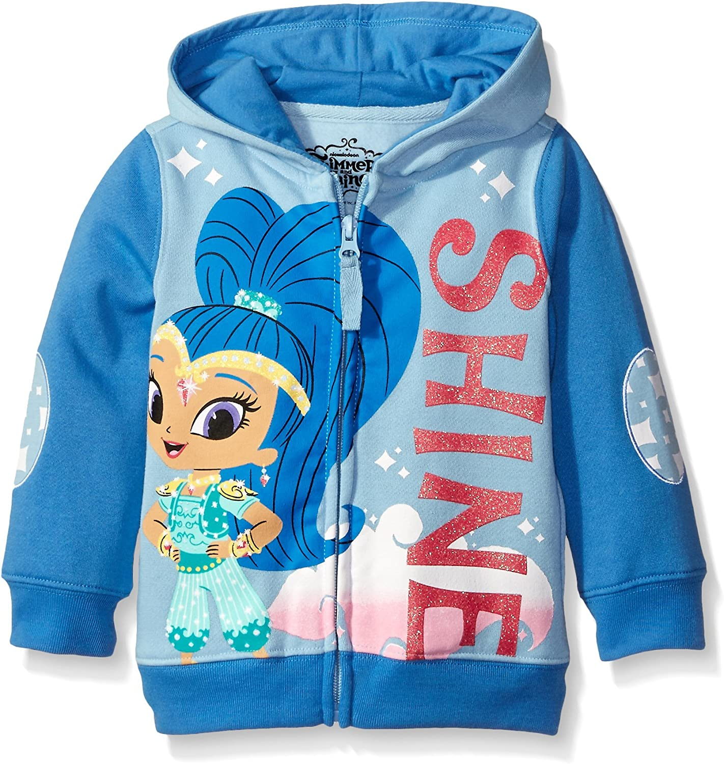 Shimmer and Shine Little Girls' Toddler Character Hoodie, Aqua/Dark Turquoise, 4T: Clothing