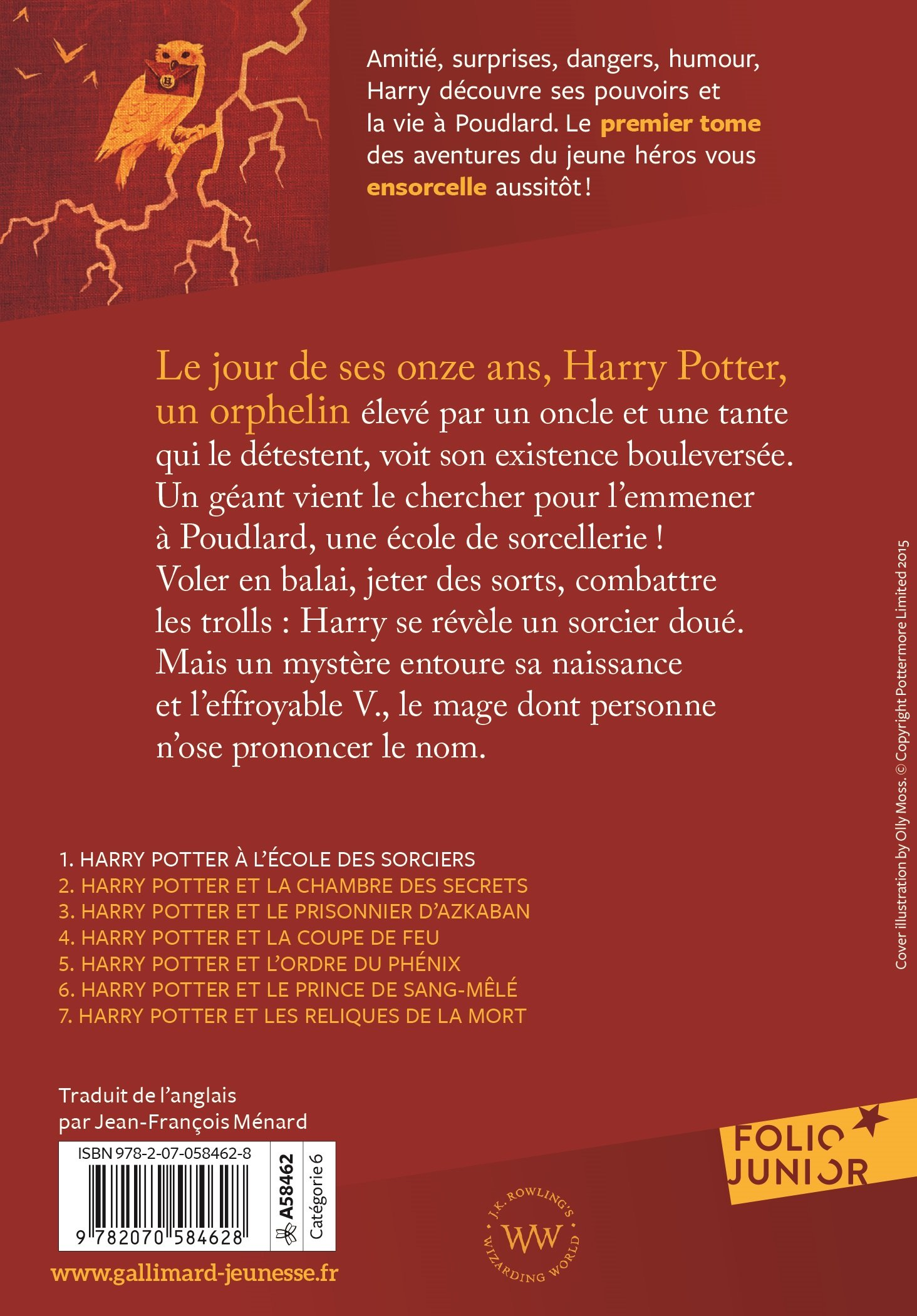 Harry Potter A L Ecole Des Sorciers French Edition J K